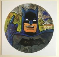 "Batman 12x12"" signed print By Frank Forte Pop Surrealism DC Comics Neo Pop art"