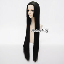 "Long Straight 40"" Black Cosplay Anime Full Wig For One Piece Boa Hankokku"