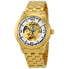 Invicta Objet D Art Automatic Silver Skeleton Dial Mens Watch 22599