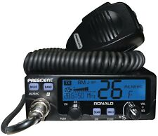 president ronald mobile ham / cb radio 10/12m or wideband 11m AM FM