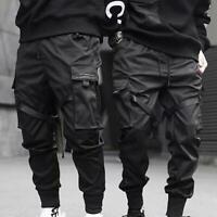 Men Ribbons Harem Joggers Harajuku Pants Sweatpant Hip-hop Trousers Cargo  New
