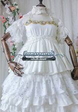 Sailor Moon Princess Serenity Cosplay Costume Sweet Lolita Dress White Golden