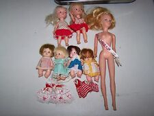 Vtg 1960s Uneeda Pee Wee & Remco Pocketbook Doll Heidi , Tressy LOT