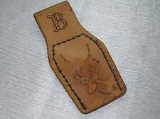Vintage Handmade Tooled Leather w Letter B and Buck Head Belt Holder for Some