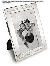 """Personalised 6"""" X 4"""" Silver Photo Frame - Can Be Engraved"""