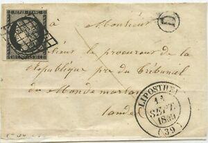 Frankreich Brief Vorderseite Liposthey 1849