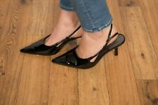 Black patent pointed slingback heels by Lane Bryant size 9.5