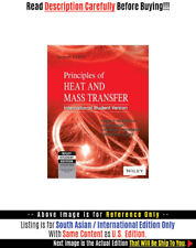 *FAST SHIP* - Principles Of Heat And Mass Transfer, 7E by Theodore L