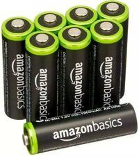 8 Pack AmazonBasics AA Rechargeable Batteries Ni-MH New Sealed 1900 mAh
