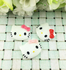 6pcs Cute Resin HELLO KITTY  Mix Bow flat back Scrapbooking For DIY phone /craft