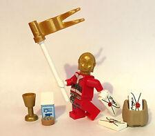 Piezas Originales De Lego Star Wars-Custom C3PO Santa Claus carta Leche Pan de jengibre