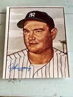 Vintage JOHNNY MIZE Autographed 8x10 Photo Yankees Giants Cards 1B MLB HOF RARE