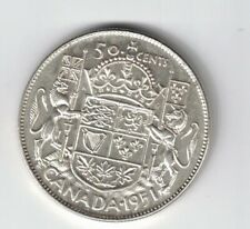 CANADA 1951 WD 50 CENT HALF DOLLAR KING GEORGE VI CANADIAN .800 SILVER COIN
