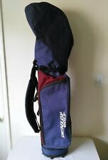 Lightweight DUNLOP Blue/Burgundy 6 Dividers Cart Bag With Rain Cover One strap