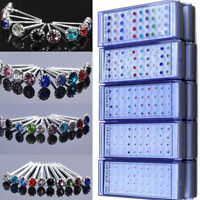 Wholesale A Set Of 20Pairs Earrings Sparkly Crystal Silver Stud For Women Girl G
