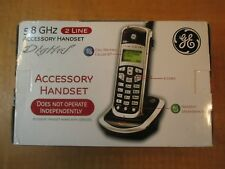 GE 5.8GHz - 2 Line Accessory  Handset For use With GE 25865GE3 Base *COMPLETE*