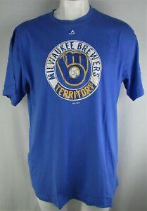 Milwaukee Brewers MLB Majestic Men's Big & Tall T-Shirt
