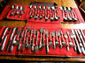 Vintage 50 Pc Set Wm Rogers Silverplate Service for 8 in Case Flatware