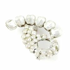 Rhinestone Vintage Brooch  Cocktail  Pin 1940S Large  Unique