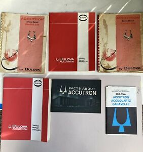 Vintage Accutron Service Manual's Lot of 6