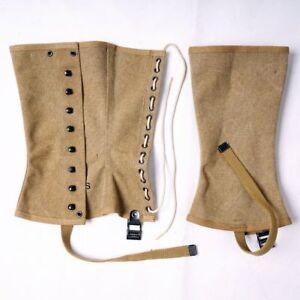 Replica  WWII WW2 US Army M1938 Outdoors Canvas Leggings Feet Wear US   SIZE 3R