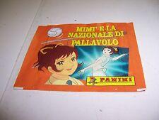 MIMI' E LA NAZIONALE DI PALLAVOLO BUSTINA FIGURINE SIGILLATA ED.PANINI 1995 RARA