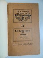 Planet Luis María Histoire Natural Las Longicornes de France Chevalier 1924