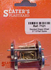 Slaters 7121 1 x Pair Plain Spoked Wagon Wheels & Brass Bearings Kit '0' Gauge T