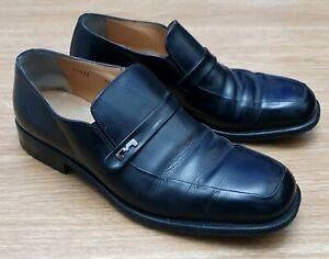 BRUNO MAGLI Mens Black Quality Leather Slip On Formal Dress Shoes UK 6.5 EU 39
