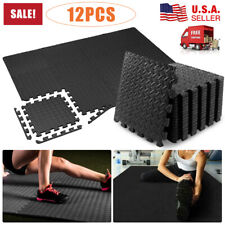 Floor Mat Heavy Duty Thick Foam Fitness Exercise Gymnastics Panel Gym Workout US
