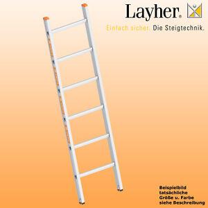 Layher Alu Anlegeleiter breit, Leiter 6-10 Sprossen, o. Traverse, Topic Typ 1054