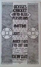 Ulysses Crocket, Afro-Blue Persuasion | Berkeley  | Orig 1967 Poster