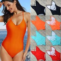 Women Sexy One Piece Monokini Bikini Swimwear Padded Bra Bathing Suits Swimsuit