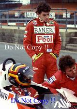 Stefan Bellof & Ayrton Senna McLaren F1 Test Silverstone 1983 Photograph