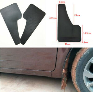 2x Car Truck Fender Mudguard Front Rear Wheel Carbon Filber Look Mud Flaps Guard