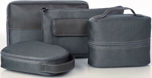 Mens Bvlgari Toiletry Wash Bag Grey Large Size From 1st Class Emirates