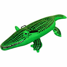 150cm INFLATABLE LARGE CROCODILE Blow Up Kids Swimming Fun Toy Float  Beach  UK