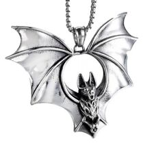 LARGE BAT PENDANT, HIGH QUALITY SURGICAL STAINLESS STEEL 316L + CHAIN + GIFT BOX