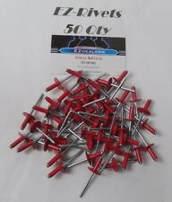 """Vintage Snowmobile Red 3/16"""" Rivets,large head red rivets  50 Qty"""