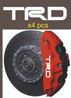 TRD Brake Caliper Decal vinyl Sticker Set of 4 White black racing sport front