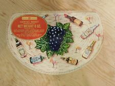 vintage huntley&palmers biscuit tin cocktail basket liquor advertising