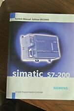 SIEMENS 6ES7298-8FA23-8BH0 SIMATIC S7-200 SYSTEM MANUAL EDITION 05/2003 NEW SUR