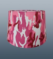 "'CAMOUFLAGE' 11"" EMPIRE DRUM SHADE IN PINK FOR CEILING & TABLE LAMP USE"