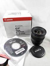 CANON EF 20mm 2.8 ULTRASONIC LENS W/BAX/CAPS/CD NOS