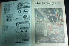 DOMENICA DEL CORRIERE 1934 ANNATA COMPLETA - juve campione - duce a modena