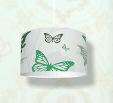 """Kinderzimmer Lampenschirm """"Green Butterfly"""" KL14 Einsatz als Steh-/Deckenlampe"""
