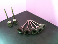 """50 pieces (1/8"""" inch) shank STEEL Wire brush Rotary CUP shape cups brushes tool"""