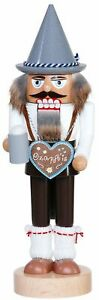 Handcrafted Erzgebirge wood Nutcracker Bavarian with Heart - made in Germany 11,