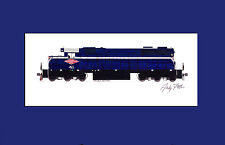 """Minneapolis Northfield & Southern SD39 11""""x17"""" Matted Print Andy Fletcher signed"""
