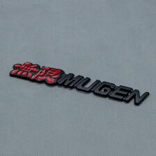 Matte Black Metal MUGEN Car Body Emblem Rear Tailgate Trunk Badge For Civic CRV